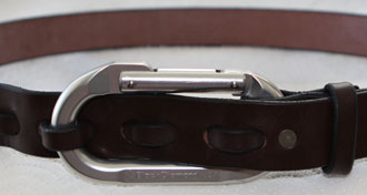 Belt: Carabiner and Mahogany